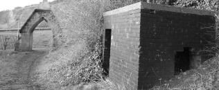 Brick built air raid shelter at Hillside Cemetery - the last remaining air raid shelter in Houghton-le-Spring!