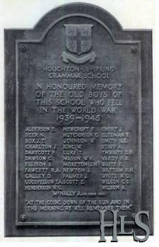 Houghton Le Spring Grammar School Remembrance Name List